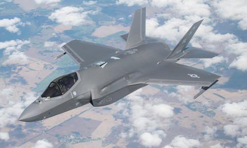The Lockheed-Martin F-35 combat aircraft.